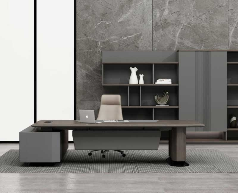 卡斯特系列实木办公桌